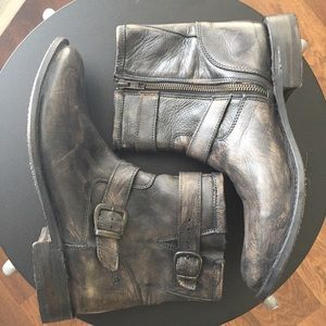 Bed Stu Gray Distressed Leather Cobbler Series